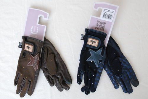 Imperial Riding Handschuhe mit Strass brown