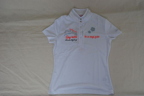Imperial Riding Turnier Shirt Double Lucky white