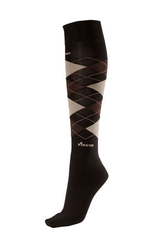 Pikeur Strümpfe Tube dark brown-light brown-beige